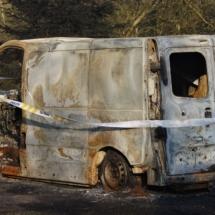 Brændt bil